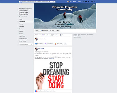 Financial Freedom Community Facebook Group